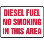 "Accuform MCHL541XL, Sign ""Diesel Fuel No Smoking in This Area"""