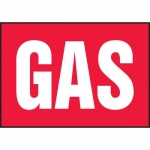 "Accuform MCHL542VA, 7″ x 10″ Aluminum Sign with Legend: ""Gas"""