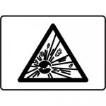 """Accuform MCHL544VA, Aluminum Explosive Graphic Sign """"Explosive Symbol"""""""