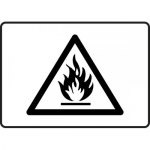 """Accuform MCHL546VP, Plastic Flammable Graphic Sign """"Flammable Symbol"""""""