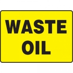 "Accuform MCHL548XL, 7″ x 10″ Aluma-Lite Sign with Legend: ""Waste Oil"""