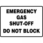 "Accuform MCHL557VS, Vinyl Sign ""Emergency Gas Shut-Off Do Not Block"""