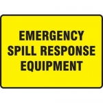 """Accuform MCHL564XF, Sign """"Emergency Spill Response Equipment"""""""