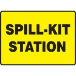 "Accuform MCHL567XP, Accu-Shield Sign with Legend ""Spill-Kit Station"""