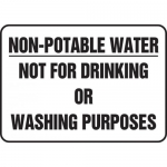 "Accuform MCHL569XP, Sign ""Non Portable Water Not for Drinking…"""