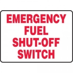 """Accuform MCHL572VP, Plastic Sign """"Emergency Fuel Shut-Off Switch"""""""