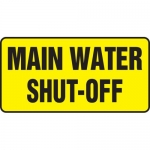 "Accuform MCHL575XP, Accu-Shield Sign with Legend ""Main Water Shut-Off"""