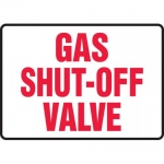 "Accuform MCHL580VA, Aluminum Sign with Legend ""Gas Shut Off Valve"""