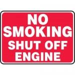 "Accuform MCHL586VA, Aluminum Sign ""No Smoking Shut Off Engine"""
