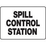 "Accuform MCHL587XP, Accu-Shield Sign ""Spill Control Station"""