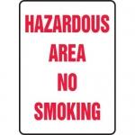 "Accuform MCHL588VA, Aluminum Sign ""Hazardous Area No Smoking"""