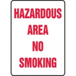 "Accuform MCHL588XL, Aluma-Lite Sign ""Hazardous Area No Smoking"""