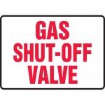 "Accuform MCHL592VP, Plastic Sign with Legend ""Gas Shut Off Valve"""