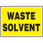 """Accuform MCHL597VP, Plastic Sign with Legend """"Waste Solvent"""""""