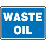 "Accuform MCHL598XL, 10″ x 14″ Aluma-Lite Sign with Legend: ""Waste Oil"""