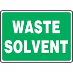 "Accuform MCHL599XF, 10″ x 14″ Dura-Fiberglass Sign: ""Waste Solvent"""