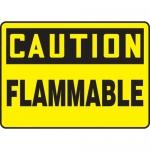 "Accuform MCHL603XV, Adhesive Dura-Vinyl OSHA Sign ""Caution Flammable"""