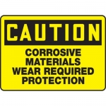 """Accuform MCHL610XL, OSHA Sign """"Corrosive Materials Wear Required…"""""""