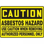 "Accuform MCHL612XV, OSHA Sign ""Asbestos Hazard Use Caution When…"""