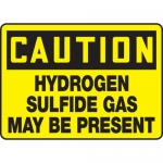 "Accuform MCHL613VA, OSHA Sign ""Hydrogen Sulfide Gas May Be Present"""