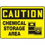 "Accuform MCHL615XL, OSHA Sign ""Chemical Storage Area"" & Symbol"