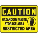 "Accuform MCHL616XF, OSHA Sign ""Hazardous Waste Storage…"" & Symbol"