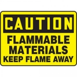 "Accuform MCHL617XL, OSHA Sign ""Flammable Materials Keep Flame Away"""