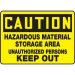 "Accuform MCHL619XL, OSHA Sign ""Hazardous Material Storage Area…"""