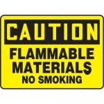 "Accuform MCHL620XT, OSHA Sign ""Flammable Materials No Smoking"""