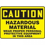 "Accuform MCHL621VS, Vinyl OSHA Sign ""Hazardous Material Wear PPE…"""