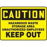 "Accuform MCHL622XF, OSHA Sign ""Hazardous Waste Storage Area…"""