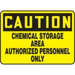 "Accuform MCHL626XV, OSHA Sign ""Chemical Storage Area Authorized…"""