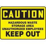 "Accuform MCHL628XF, OSHA Sign ""Hazardous Waste Storage…"""