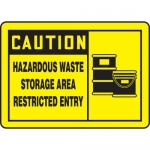 "Accuform MCHL630XF, OSHA Sign ""Caution Hazardous Waste Storage…"""