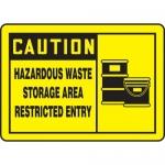 """Accuform MCHL632XL, OSHA Sign """"Caution Hazardous Waste Storage…"""""""