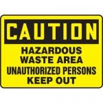 """Accuform MCHL640VS, OSHA Sign """"Hazardous Waste Area Unauthorized…"""""""