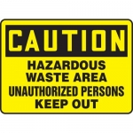 "Accuform MCHL640XL, OSHA Sign ""Hazardous Waste Area Unauthorized…"""