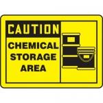 """Accuform MCHL642VA, Aluminum OSHA Sign """"Caution Chemical Storage Area"""""""