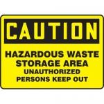 "Accuform MCHL650VS, Vinyl OSHA Sign ""Hazardous Waste Storage…"""