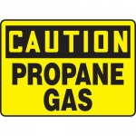 "Accuform MCHL651VA, Aluminum OSHA Sign ""Caution Propane Gas"""