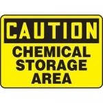 "Accuform MCHL652XF, Dura-Fiberglass OSHA Sign ""Chemical Storage Area"""