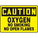 "Accuform MCHL656VA, OSHA Sign ""Oxygen No Smoking No Open Flames"""