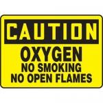 "Accuform MCHL656XV, OSHA Sign ""Oxygen No Smoking No Open Flames"""