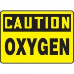 "Accuform MCHL658VA, Aluminum OSHA Sign with Legend ""Caution Oxygen"""