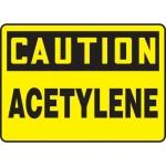 "Accuform MCHL660VS, Adhesive Vinyl OSHA Sign ""Caution Acetylene"""