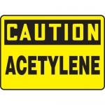 "Accuform MCHL660XF, Dura-Fiberglass OSHA Sign ""Caution Acetylene"""