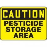 "Accuform MCHL670XF, OSHA Sign ""Caution Pesticide Storage Area"""