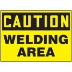 "Accuform MCHL672XL, Aluma-Lite OSHA Sign ""Caution Welding Area"""