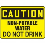 "Accuform MCHL674XP, OSHA Sign ""Non-Potable Water Do Not Drink"""