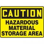 """Accuform MCHL675VA, OSHA Sign """"Hazardous Material Storage Area"""""""